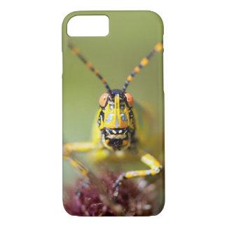A close-up of an Elegant Grasshopper iPhone 7 Case