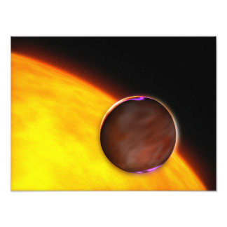 A close-up of an extrasolar planet photograph