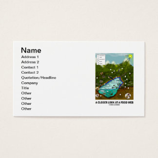 A Closer Look At A Food Web (Biology / Ecology) Business Card