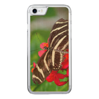 A closeup, nature photo of a Zebra Longwing Butter Carved iPhone 8/7 Case