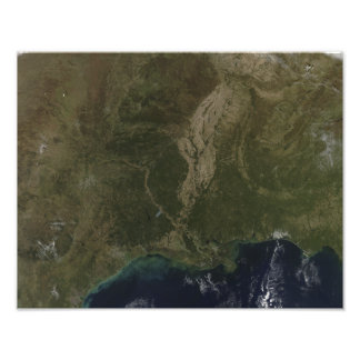 A cloud-free view of the southern United States Photographic Print