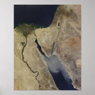 A cloud of tan dust from Saudi Arabia Poster