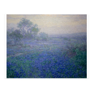 """A Cloudy Day Bluebonnets near San Antonio"" Postcard"
