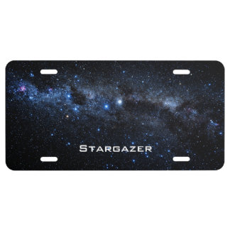 A Cluster of Stars License Plate