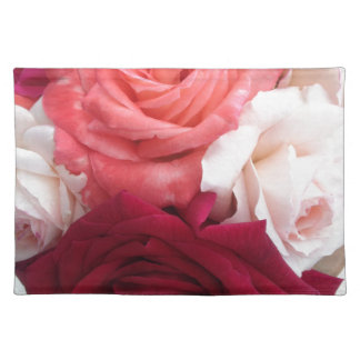 A collection of colourful roses placemat