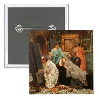 A Collector of Pictures at the Time of Augustus, 1 2 Inch Square Button