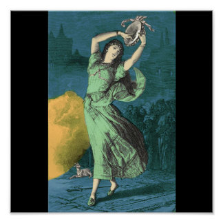 A Color Illustration of Esmeralda Poster