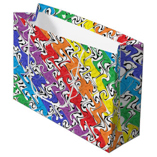 A Colorful Abstract Large Gift Bag