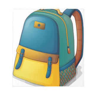 A colorful back pack notepad