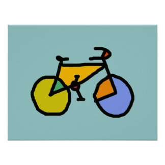 a colorful bicycle poster