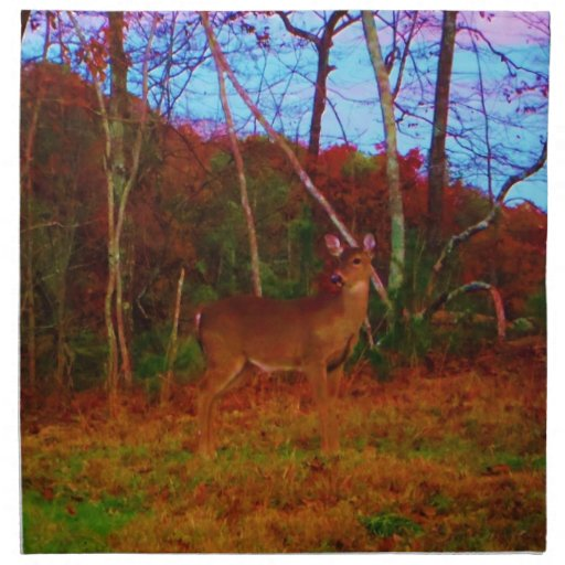 A Colorful Deer at Sunset Cloth Napkin
