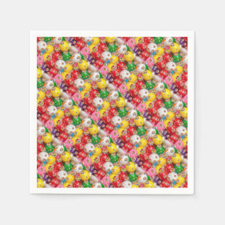 a colorful design disposable napkin