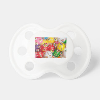 a colorful design pacifier