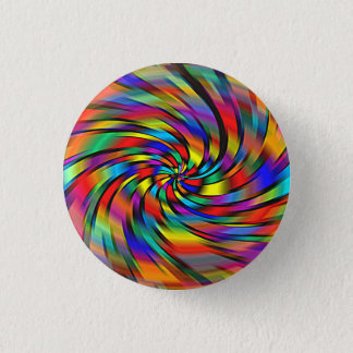 A Colorful Pinwheel 1 Inch Round Button