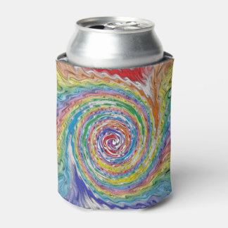 A Colorful Splatter Can Cooler