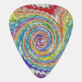 A Colorful Splatter Guitar Pick