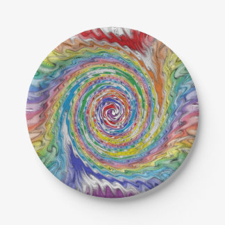 A Colorful Splatter Paper Plate