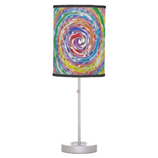 A Colorful Splatter Table Lamp