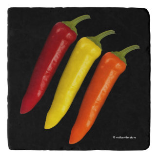 A Colorful Trio of Banana Peppers Trivet