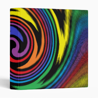 A Colorful Turbulence 3 Ring Binder