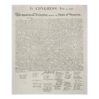 A Colossal Declaration of Independence (U.S.) Poster