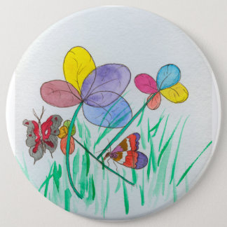 A colossal round six inch button with my painting
