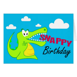 A Colourful Crocodile Fun Happy Birthday Card