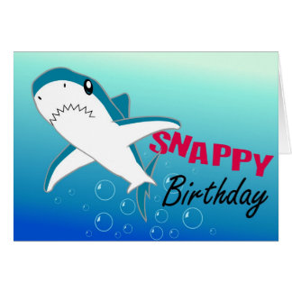 A Colourful Shark Fun Happy Birthday Card