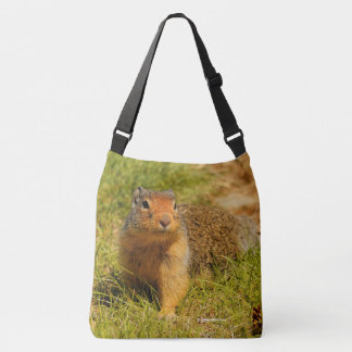 A Columbian Ground Squirrel Approaches Crossbody Bag
