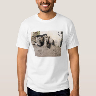 A combat engineer searches for weapons caches tshirts