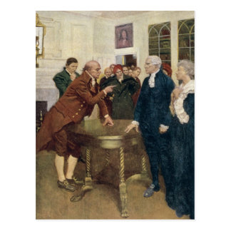 A Committee of Patriots Delivering an Ultimatum Postcard