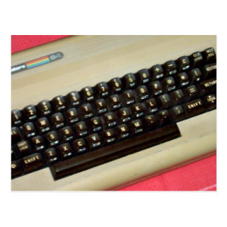 A Commodore 64 8-bit home computer Postcard