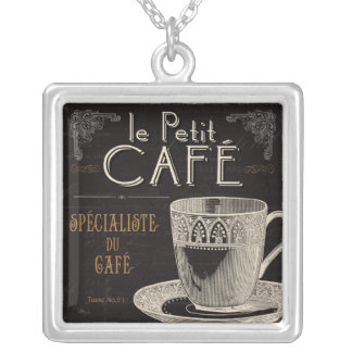 A Contemporary Cup of Coffee Silver Plated Necklace