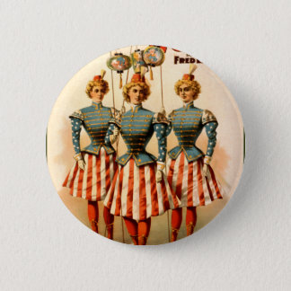 A Contented Woman Campaign Girls 2 Inch Round Button