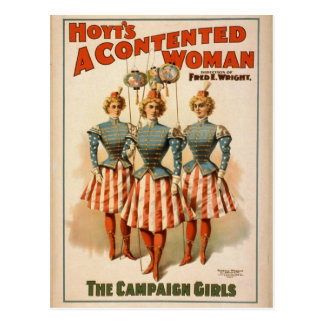 A Contented Woman, 'The Campaign Girls' Retro Thea Postcards