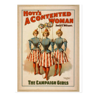A Contented Woman, 'The Campaign Girls' Retro Thea Postcard