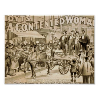 A Contented Woman, 'The Night Before Election' Print