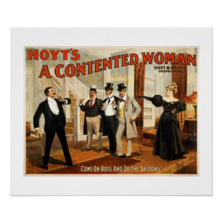 A Contented Woman Vintage Theatre Poster