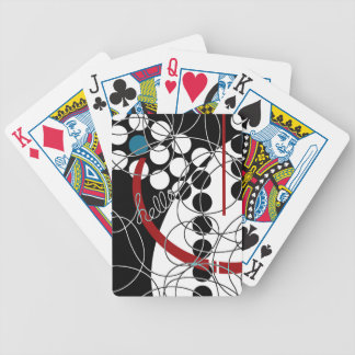 A Contrary Hello Bicycle Playing Cards