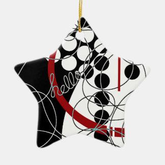 A Contrary Hello Ceramic Ornament