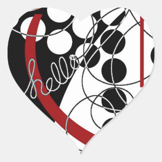 A Contrary Hello Heart Sticker