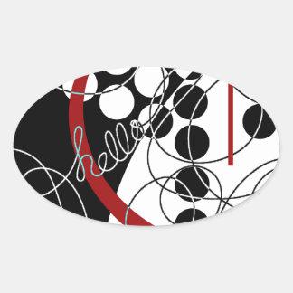 A Contrary Hello Oval Sticker