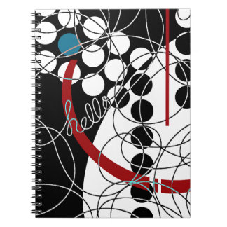 A Contrary Hello Spiral Notebook