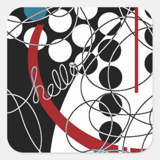 A Contrary Hello Square Sticker