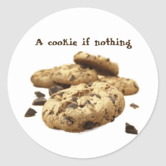 A cookie if nothing classic round sticker
