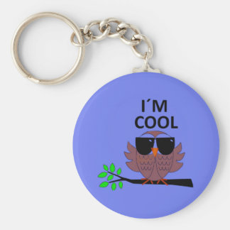 A Cool Dude's Wise Owl Keychain