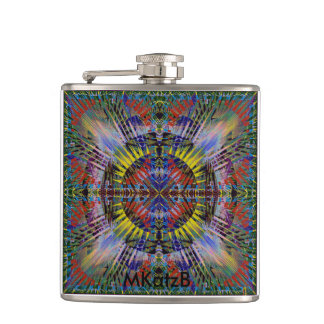 A cool flask with Some MKatzB art..