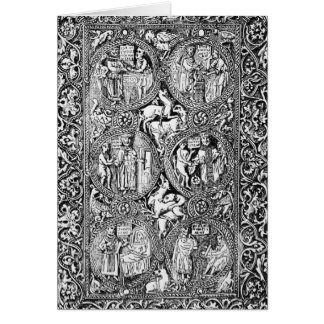 A copy of  ivory back Queen Melisende's Psalter Card