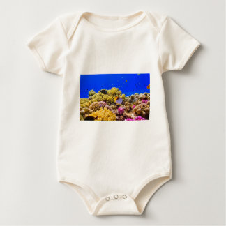 A Coral Reef in the Red Sea near Egypt Baby Bodysuit