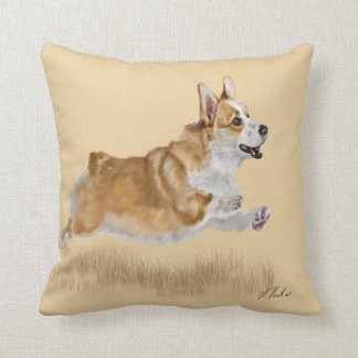 A Corgi called Buttons Throw Pillow